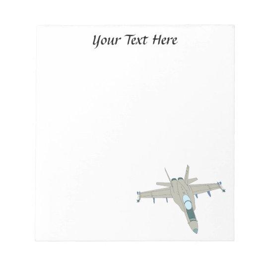 Jet Fighter F18 Hornet Design Notepad