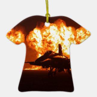 Jet Fighter Flames Ceramic T-Shirt Decoration