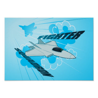 Jet fighter poster