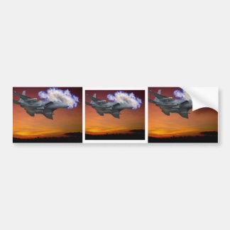 Jet Fighter Sunset Bumper Sticker