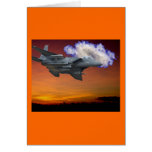 Jet Fighter Sunset Greeting Card