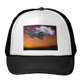 Jet Fighter Sunset Trucker Hat