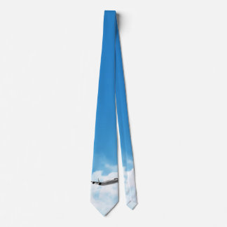 Jet Flying On The Sky Neck Tie