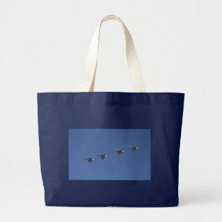 jet formation large tote bag