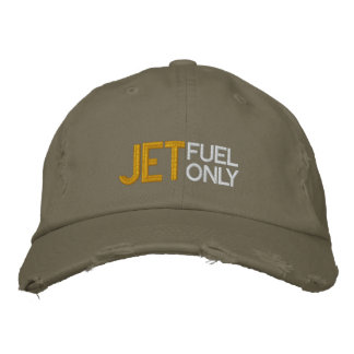 Jet Fuel Only Pilot Hat Embroidered Baseball Cap