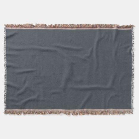 Jet Gray Throw Blanket