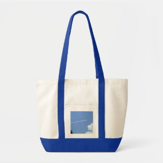 Jet in Flight Tote Bag