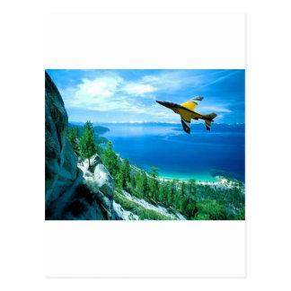 Jet Knife edge maneuver Postcard