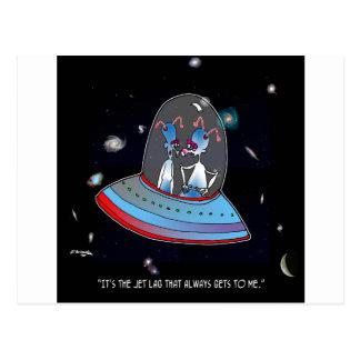 Jet Lag Cartoon 9492 Postcard