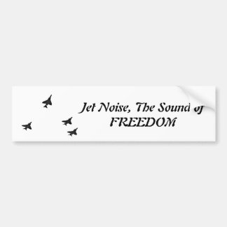 Jet Noise the sound of freedom f-4 Bumper Sticker