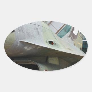 Jet Oval Sticker