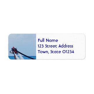 Jet Pack Blasting Off Custom Return Address Labels