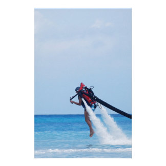 Jet Pack Blasting Off Personalized Stationery