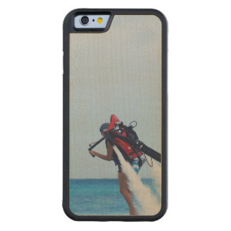 Jet Pack Blasting Off Carved® Maple iPhone 6 Bumper