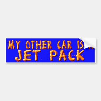 JET PACK BUMPER STICKER