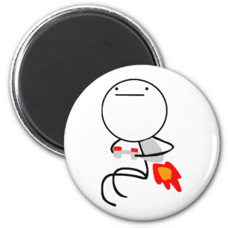 Jet Pack Guy 2 Inch Round Magnet