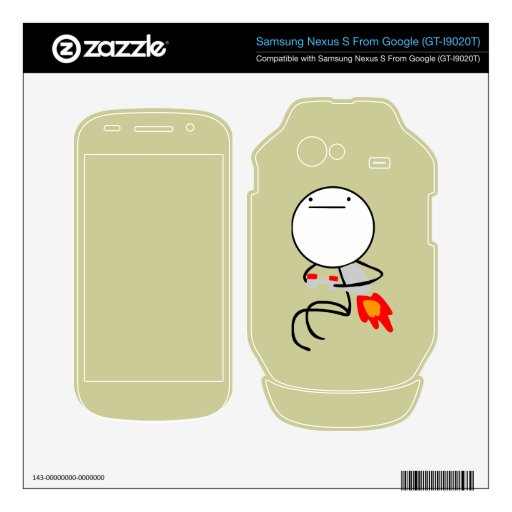 Jet Pack Guy Samsung Nexus Skin Google Nexus S Decals