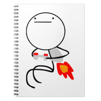 Jet Pack Guy Spiral Notebooks