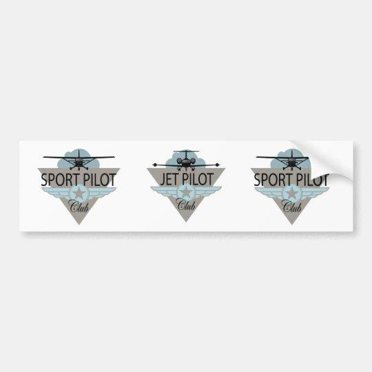 Jet Pilot Club Bumper Sticker