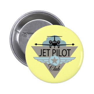 Jet Pilot Club 2 Inch Round Button