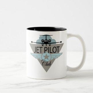 Jet Pilot Club Two-Tone Coffee Mug