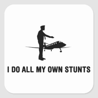 Jet Pilot Square Sticker