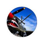 Jet Plane Aircraft Pilot Destiny Congratulations Round Wall Clock