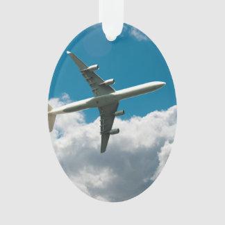 Jet Plane Ascending into Clouds Ornament