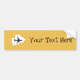 Jet Plane In a Cloud Bumper Sticker