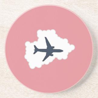 Jet Plane In a Cloud Sandstone Coaster