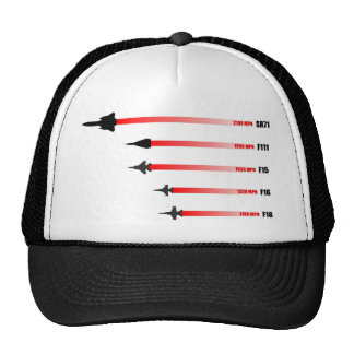 Jet plane max speed: Air Force fighter aircraft Trucker Hat