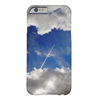 Jet plane trails between two clouds barely there iPhone 6 case