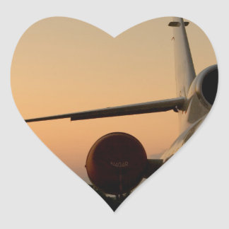 Jet Plane Wing Fly Airport Heart Sticker