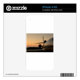 Jet Plane Wing Fly Airport Skin For iPhone 4