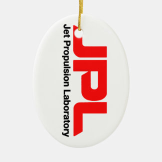 Jet Propulsion Laboratory Double-Sided Oval Ceramic Christmas Ornament