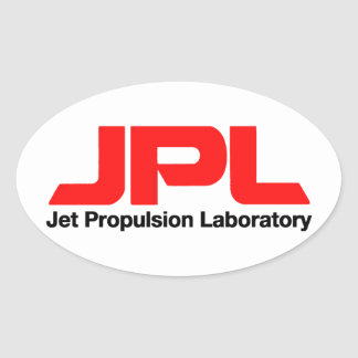 Jet Propulsion Laboratory Oval Sticker