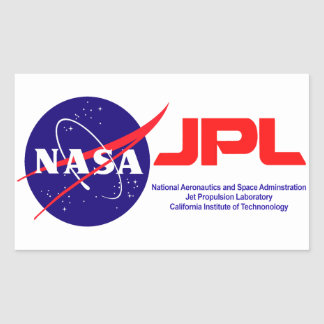 Jet Propulsion Laboratory Rectangular Sticker