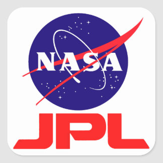 Jet Propulsion Laboratory Square Sticker