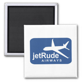 Jet Rude Air 2 Inch Square Magnet