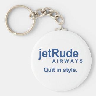 Jet Rude - Quit in style Basic Round Button Keychain