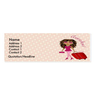 Jet Set Diva Profile Card Double-Sided Mini Business Cards (Pack Of 20)