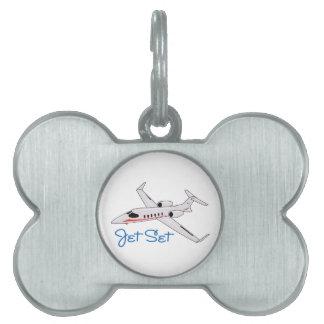 Jet Set Pet Name Tag