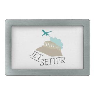 Jet Setter Rectangular Belt Buckle