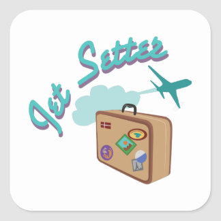 Jet Setter Square Sticker
