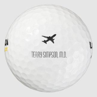 Jet Silhouette Golf Balls