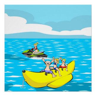 Jet ski and Banana boat Poster