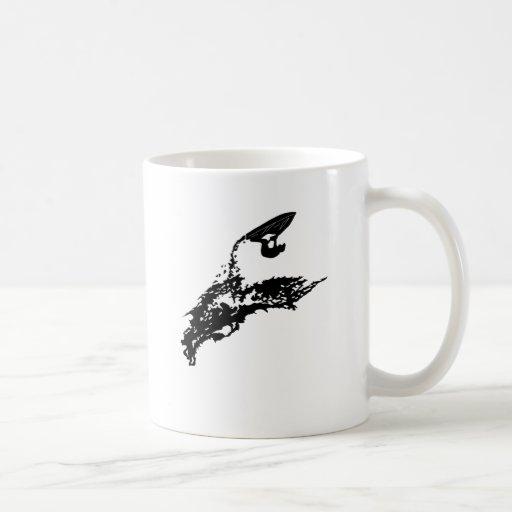 Jet ski big jump classic white coffee mug