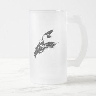 Jet ski big jump 16 oz frosted glass beer mug