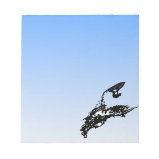Jet ski big jump on a wave memo pad