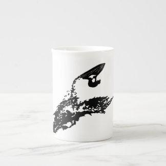 Jet ski big jump on a wave porcelain mug